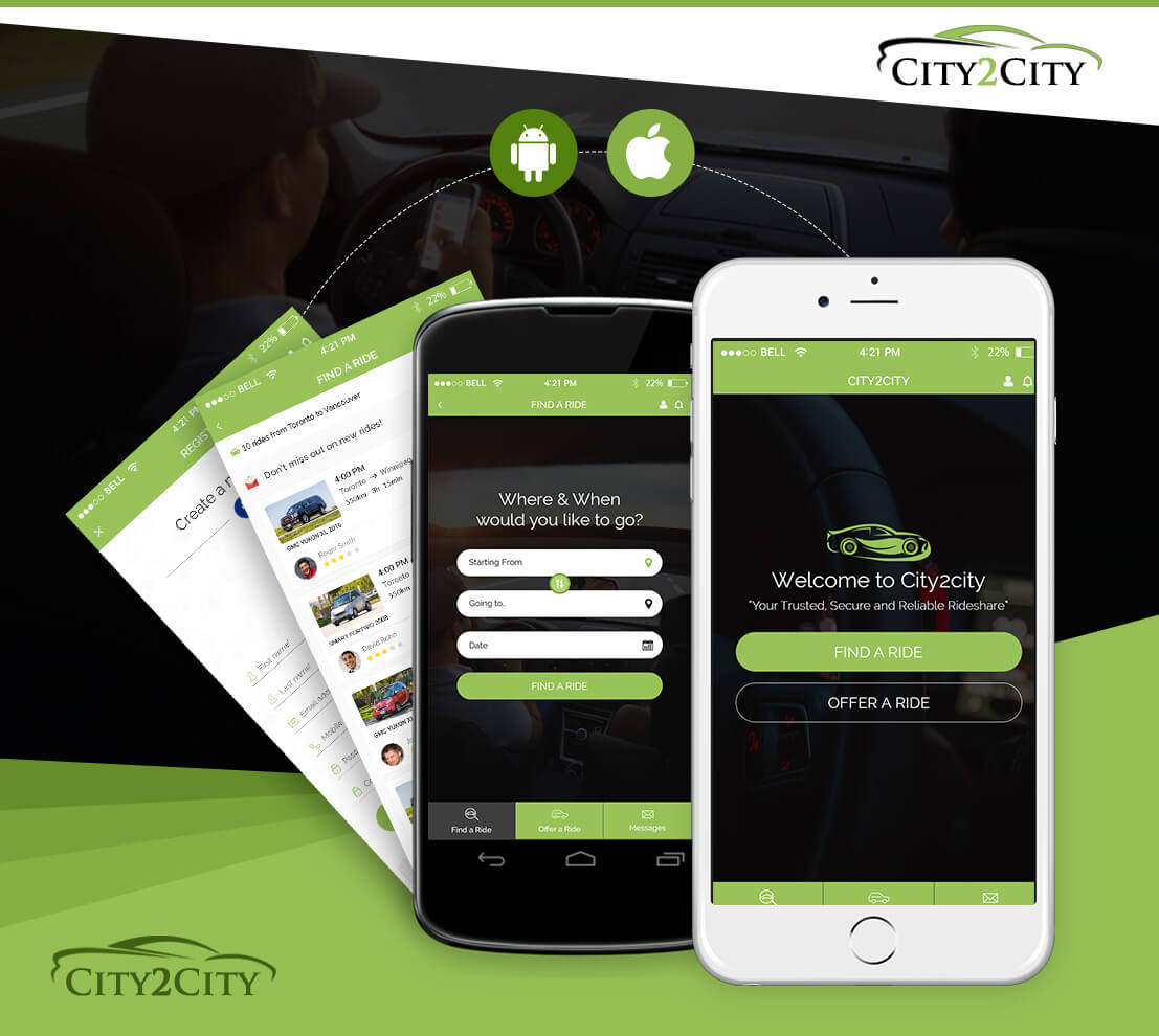 City2city App – Ride Sharing and Cab Booking App