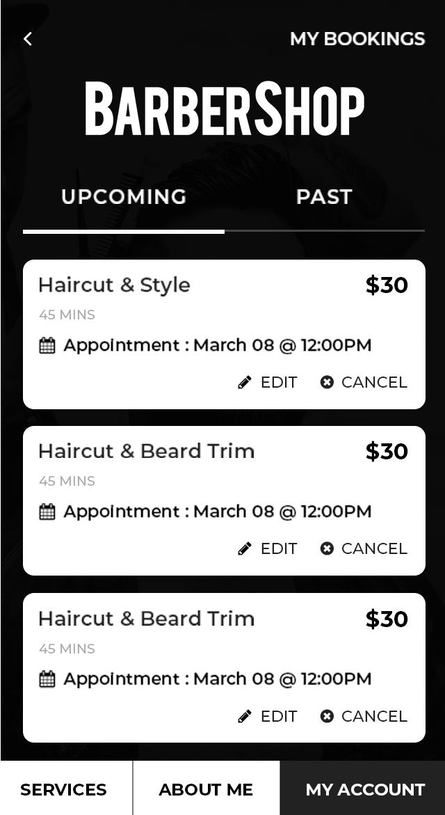 Upcoming Booking Screen_pic